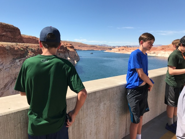 On top of the dam